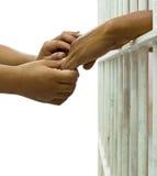 Son épouse convainc son mari emprisonné Image stock