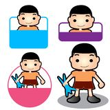 Happy family sign son or boy. Son or boy badge sign family concept design royalty free stock photo