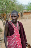 Son of the chief Masai. Son of the chief of the Masai tribe in Africa - Kenya Royalty Free Stock Images