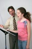 Son d'Ahh de leçon de voix Photo libre de droits