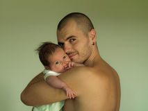 Son and dad Stock Photography