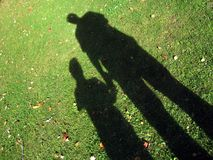 Son and Dad. Shadows of father and son Stock Photography