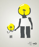 Son and dad creativity Stock Photo