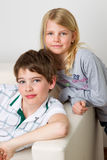 Son and daughter Royalty Free Stock Photo