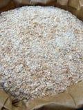 Son de blé dans un sac de papier brun Photo libre de droits