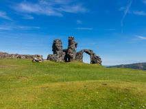 Son de Dinas de Castell au-dessus de Llangollen Pays de Galles Images libres de droits