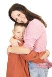 son för 2 moder fotografering för bildbyråer