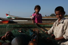 The son of a fisherman from Karnataka Stock Photography