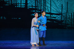 "The son of a grown up-Dance drama ""The Dream of Maritime Silk Road"" Royalty Free Stock Image"