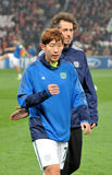 Son Heung-Min go out from the field Royalty Free Stock Photography
