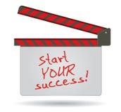 Son heure de commencer votre succès Images libres de droits