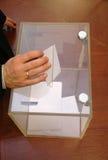 Son heure pour des élections Photographie stock libre de droits
