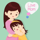 Son Hugging His Mother. Mother's Day, Embracing, Love, Children of love,Daughter Hugging His Mother stock illustration