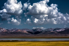 Son-Kul Lake. Picture during my trip around the Kyrgyzstan Stock Images
