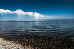 Son-Kul Lake. Picture during my trip around the South of Kyrgyzstan Stock Photography