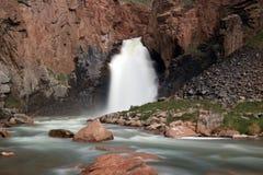 Son-Kul waterfall. Naryn region, Kyrgyzstan Stock Photo