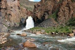 Son-Kul waterfall. On Son-kul river, naryn region, kyrgyzstan Royalty Free Stock Photo