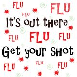 Son là, obtiennent votre vaccin contre la grippe photo stock