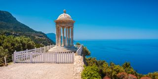 Son Marroig Temple in Deià Majorca Spain. Son Marroig Temple on the former property of the Archduke Ludwig Salvator of Florence in Deià, Majorca, Spain royalty free stock photography