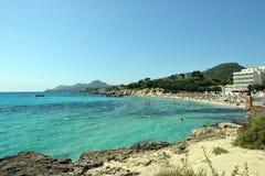 Son Moll, Cala Rajada. Beach Son Moll of Cala Rajada, Mallorca, Spain stock photography
