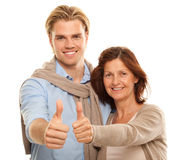 Son and mother Royalty Free Stock Image