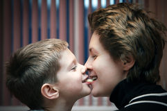 Son and mother royalty free stock photography