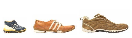 Son mother father shoes Royalty Free Stock Image