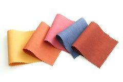 Son multicolore d'échantillon de tissu images libres de droits