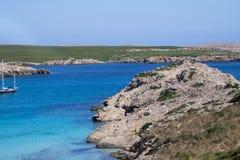 Son Parc beach in Menorca, Spain. Famous Son Parc beach on balearic island Menorca, Spain Stock Image