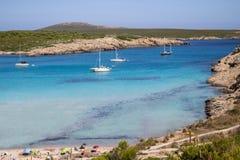 Son Parc beach in Menorca, Spain. Famous Son Parc beach on balearic island Menorca, Spain Royalty Free Stock Photography