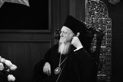 Son patriarche oecuménique Bartholomew de Tout-sainteté photographie stock