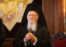 Son patriarche oecuménique Bartholomew de Tout-sainteté image libre de droits