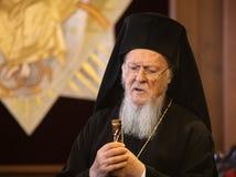 Son patriarche oecuménique Bartholomew de Tout-sainteté photographie stock libre de droits