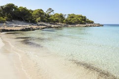 Son Saura beach in Minorca Royalty Free Stock Images