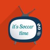 Son temps du football Photo libre de droits