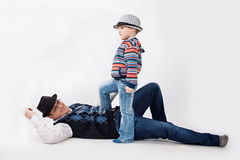 Son win Stock Photography