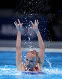 Sona Bernardova of Czech Republic. During a Solo Synchronised Swimming event of World Championship BCN2013 on July 24, 2013 in Barcelona Spain Royalty Free Stock Images