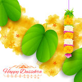 Sona patta for wishing Happy Dussehra Royalty Free Stock Images