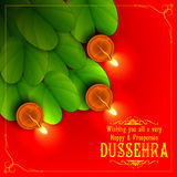 Sona patta for wishing Happy Dussehra Stock Images