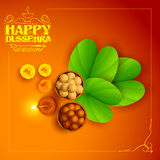 Sona patta for wishing Happy Dussehra Royalty Free Stock Photography