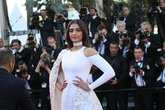 Sonam Kapoor. Attends the screening of 'From The Land Of The Moon (Mal De Pierres)' at the annual 69th Cannes Film Festival at Palais des Festivals on May 15 stock images