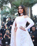 Sonam Kapoor attends the screening of `From The Land Of The Moon. Mal De Pierres` at the annual 69th Cannes Film Festival at Palais des Festivals on May 15 stock photo
