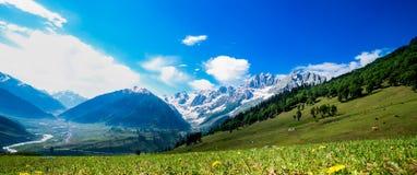 Sonamarg,查谟和克什米尔状态,印度美好的山景  图库摄影