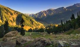 Sonamarg dal, Kashmir, Indien Arkivbilder