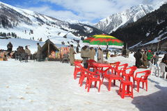Sonamarg i Kashmir. Royaltyfria Foton