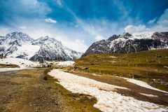 Sonamarg II. Snow mountains in Sonamarg, Kashmir Stock Images