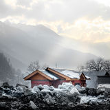 Sonamarg, Kashmir, India. View of Sonamarg With Snow Royalty Free Stock Image