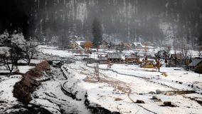 Sonamarg, Kashmir, India. View of Sonamarg With Snow stock photography