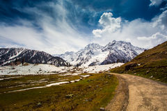Sonamarg. Snow mountains in Sonamarg, Kashmir Royalty Free Stock Images