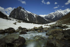 Sonamarggletsjer, Kashmir, India Stock Foto's